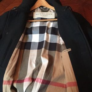 Burberry Brit Wool Trench Coat Size Xl Men Black